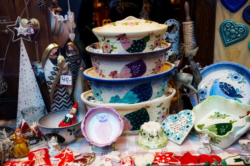 Une vitrine du marché de Noël de Kaysersberg