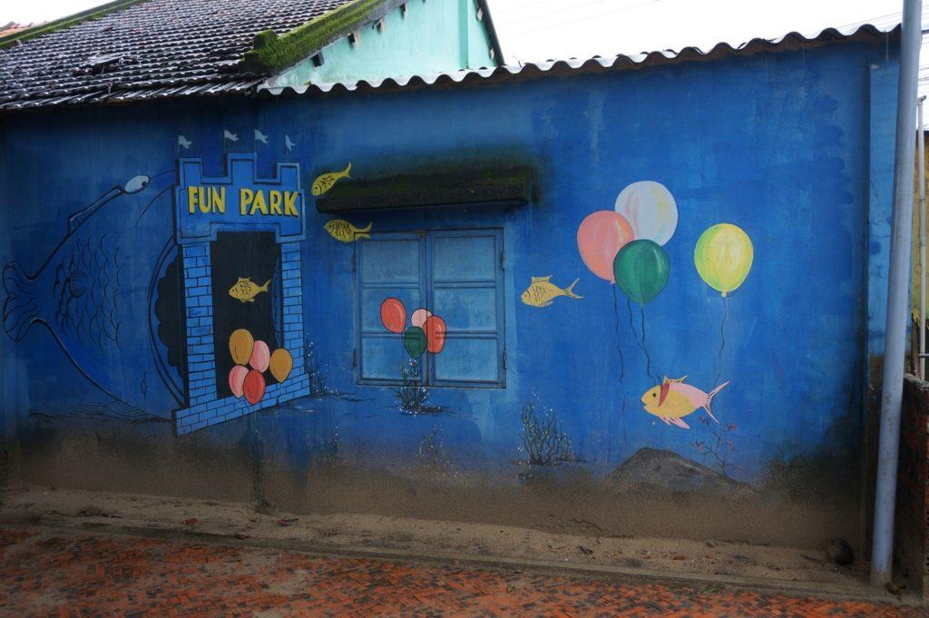 Peinture murale maritime à Tam Thanh