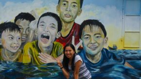 l'île de Tam Hai: village des fresques murales