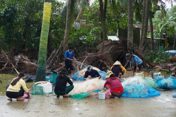 la vie des pêcheurs sur l'île de Tam Hai