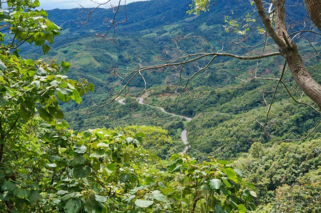 trajet à vélo pour aller à Dalat
