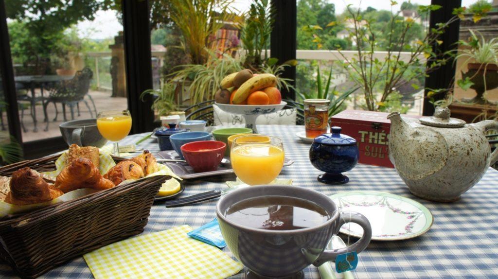 Un excellent petit déjeuner dans un fabuleux cadre