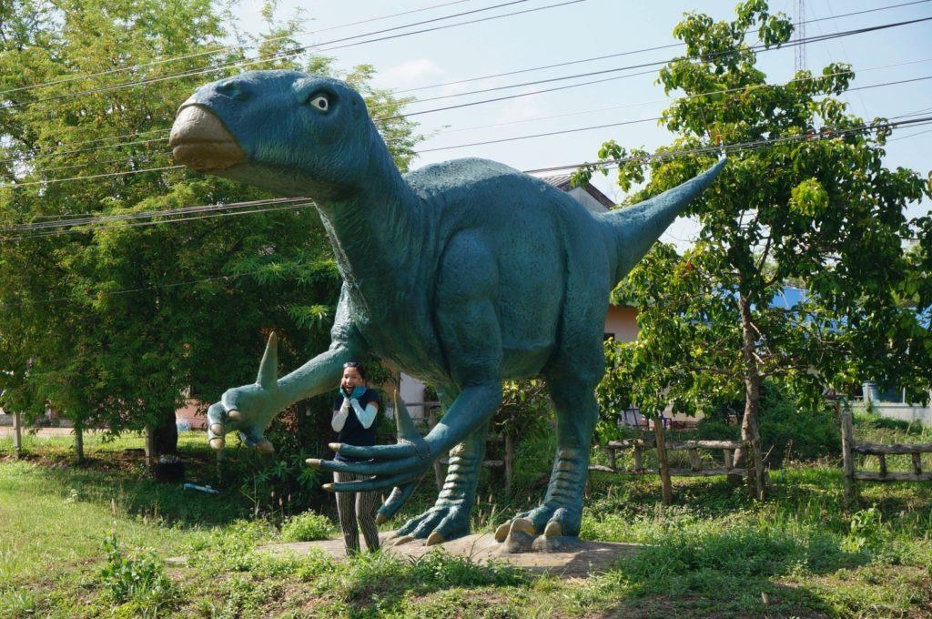 Sur la route menant au parc des empreintes de dinosaures dans l'Isaan