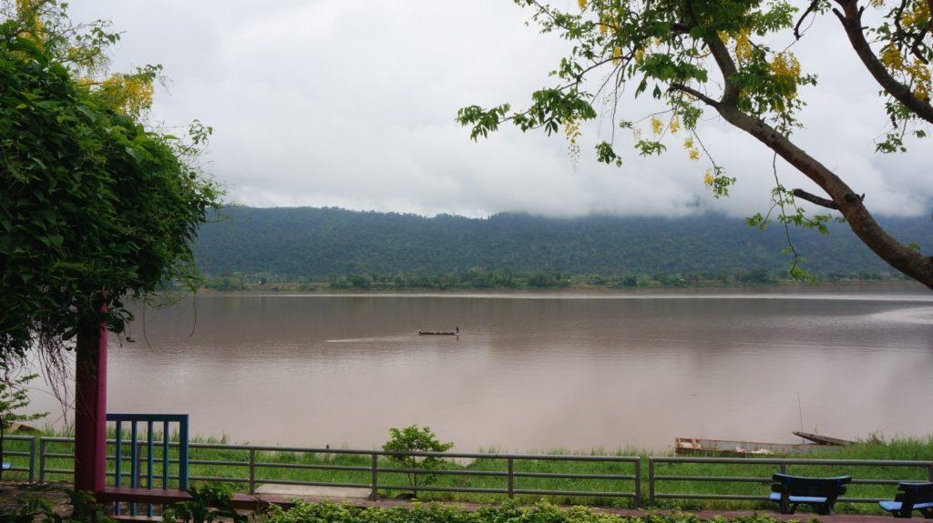 La vue depuis notre bungalow dans un petit village de l'Isaan