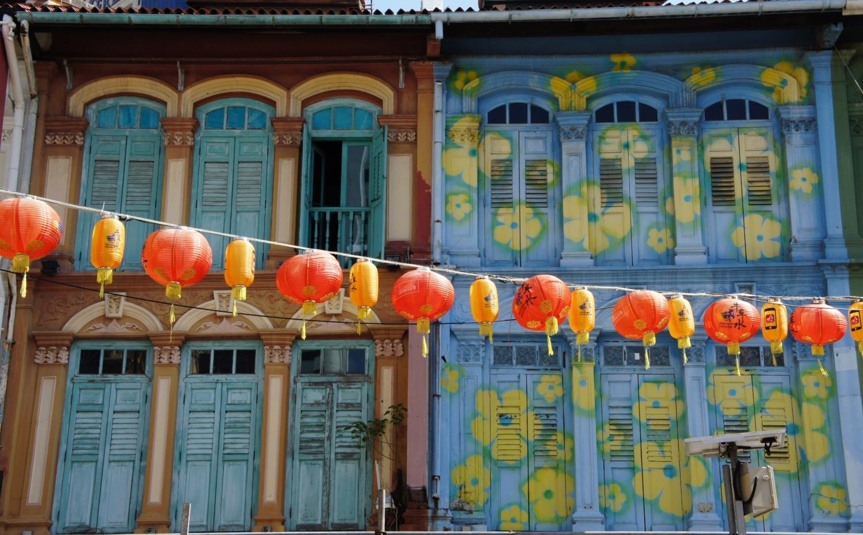 Façades dans le Chinatown singapourien