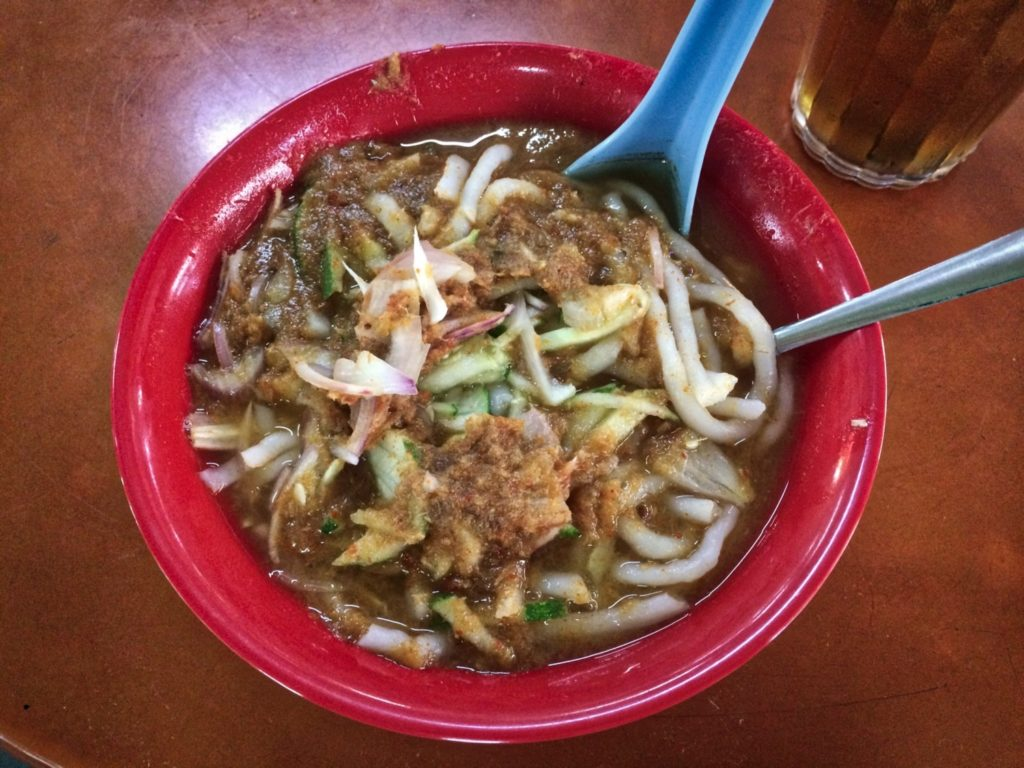 Asam laksa street-food en Malaisie