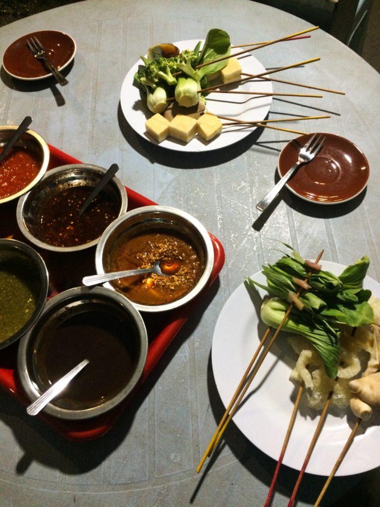 lok lok street-food en Malaisie