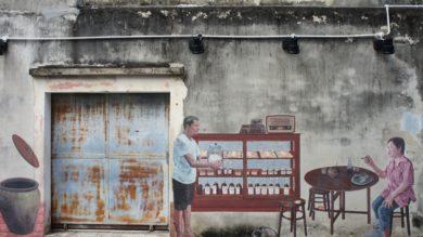 street art à Songkhla Thaïlande