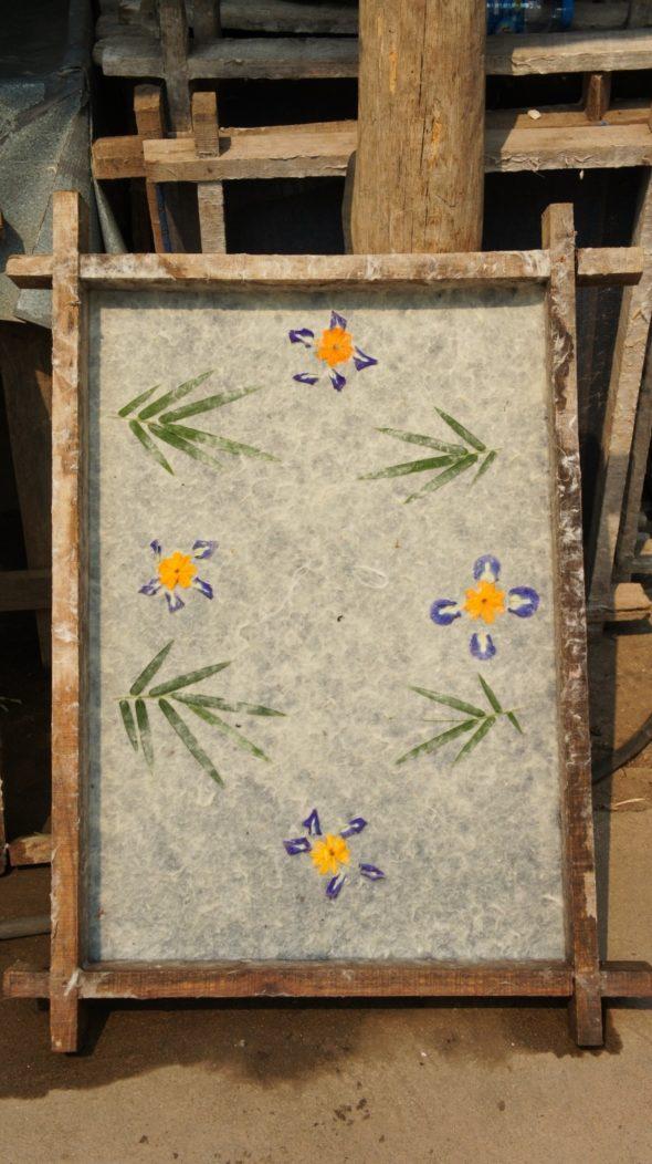 fabrication de papier à Luang Prabang