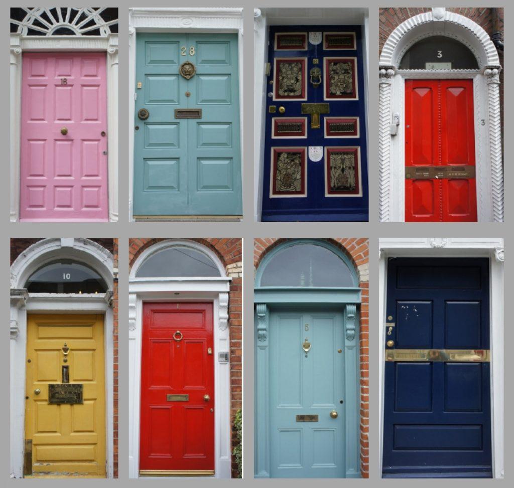 Portes de maisons géorgiennes à Dublin
