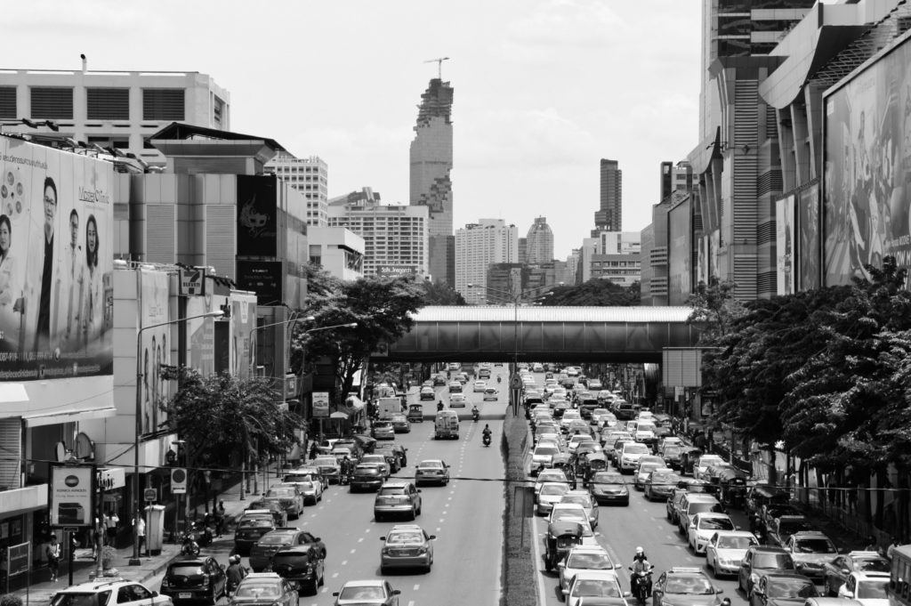 Trafic chargé à Bangkok en Thaïlande