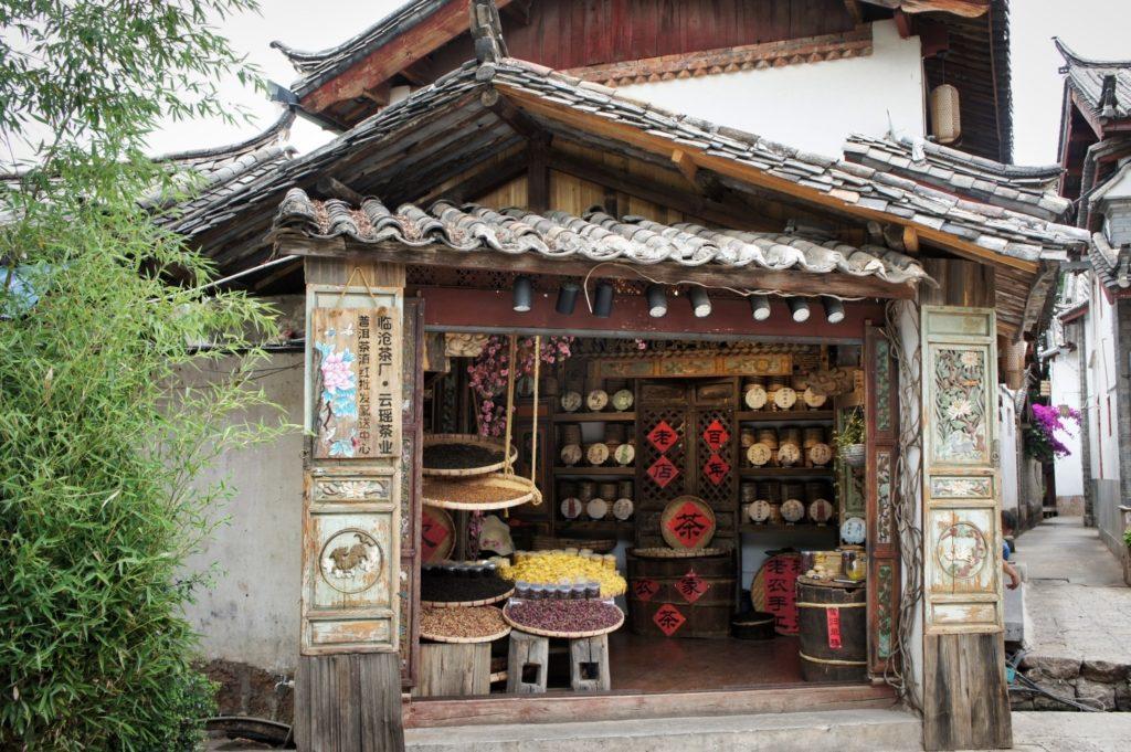 boutique de thé yunnan