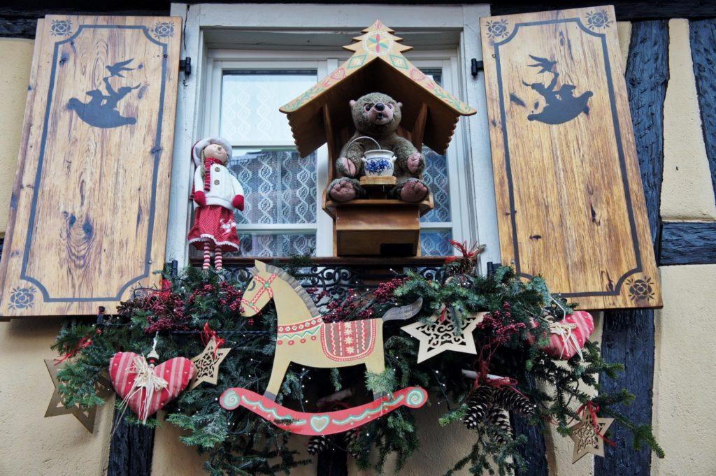 Décoration au marché de Noël de Ribeauvillé
