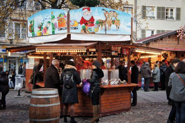 Les chalets du marché de Noël de Mulhouse