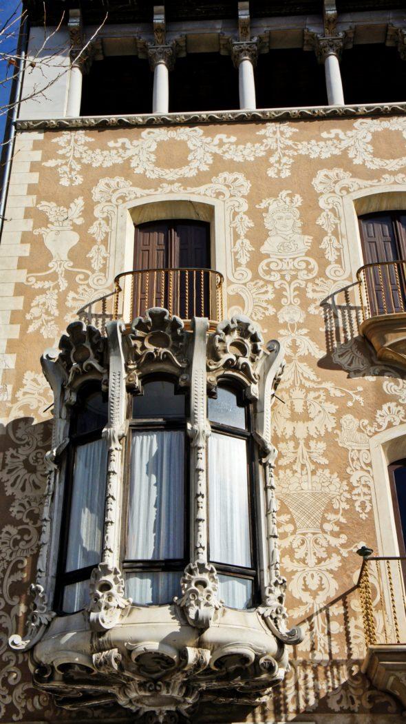 Jolies maisons de Olot en Catalogne