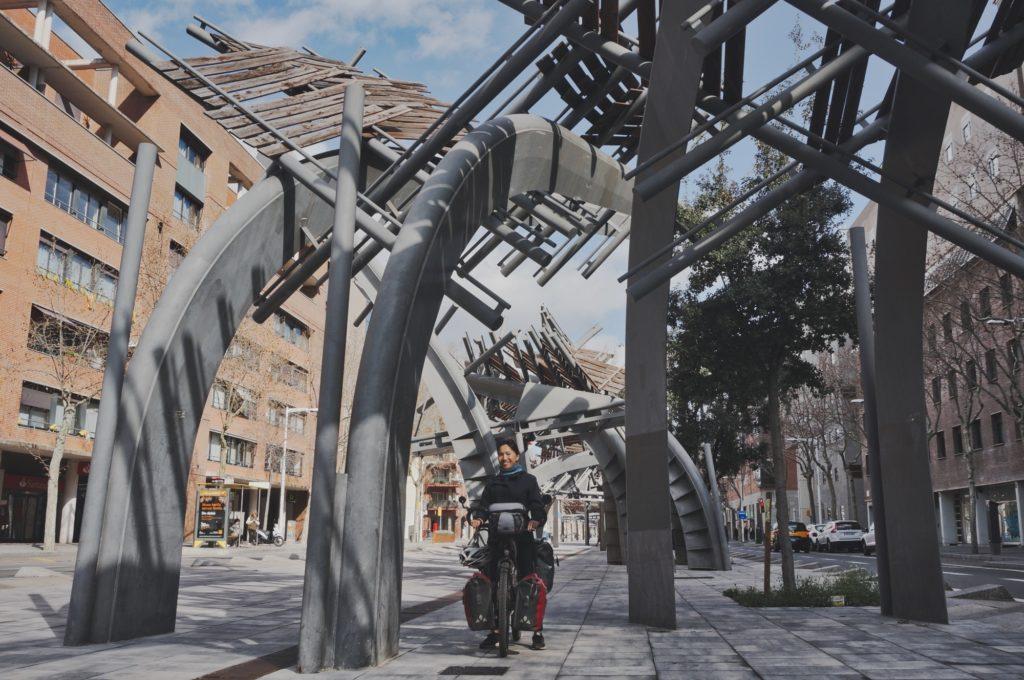 Piste cyclable à Barcelone