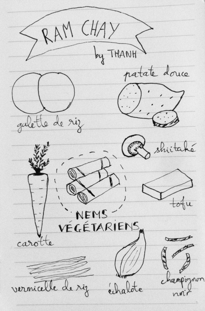 recette illustrée nems végétariens