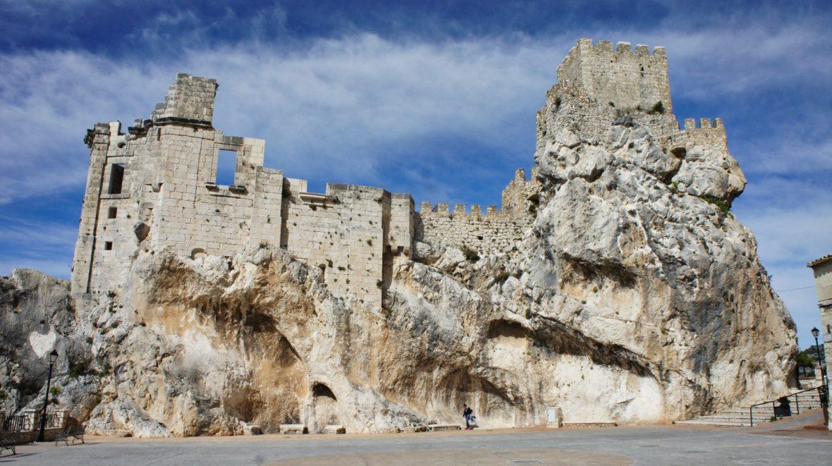 Les vestiges du château de Zuheros