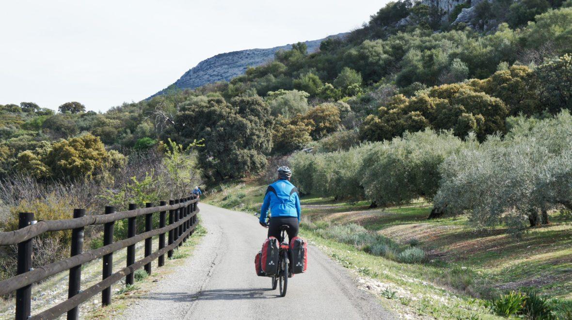 Voie verte de la Subbética Andalousie à vélo