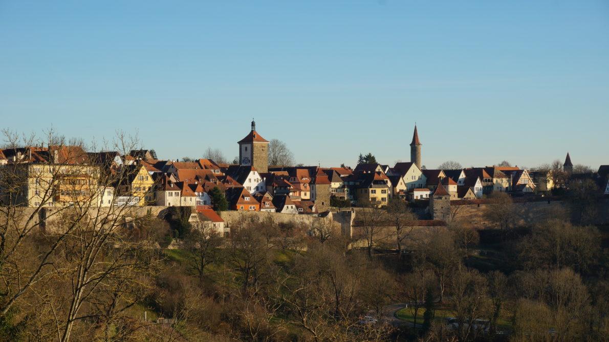 Vue sur le village de Rothenburg ob der Tauber