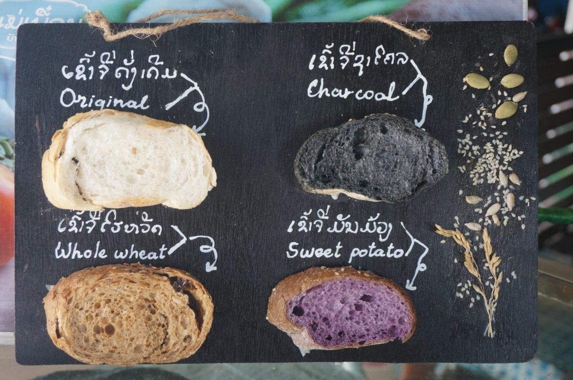 Plusieurs types de pain disponibles pour les sandwichs