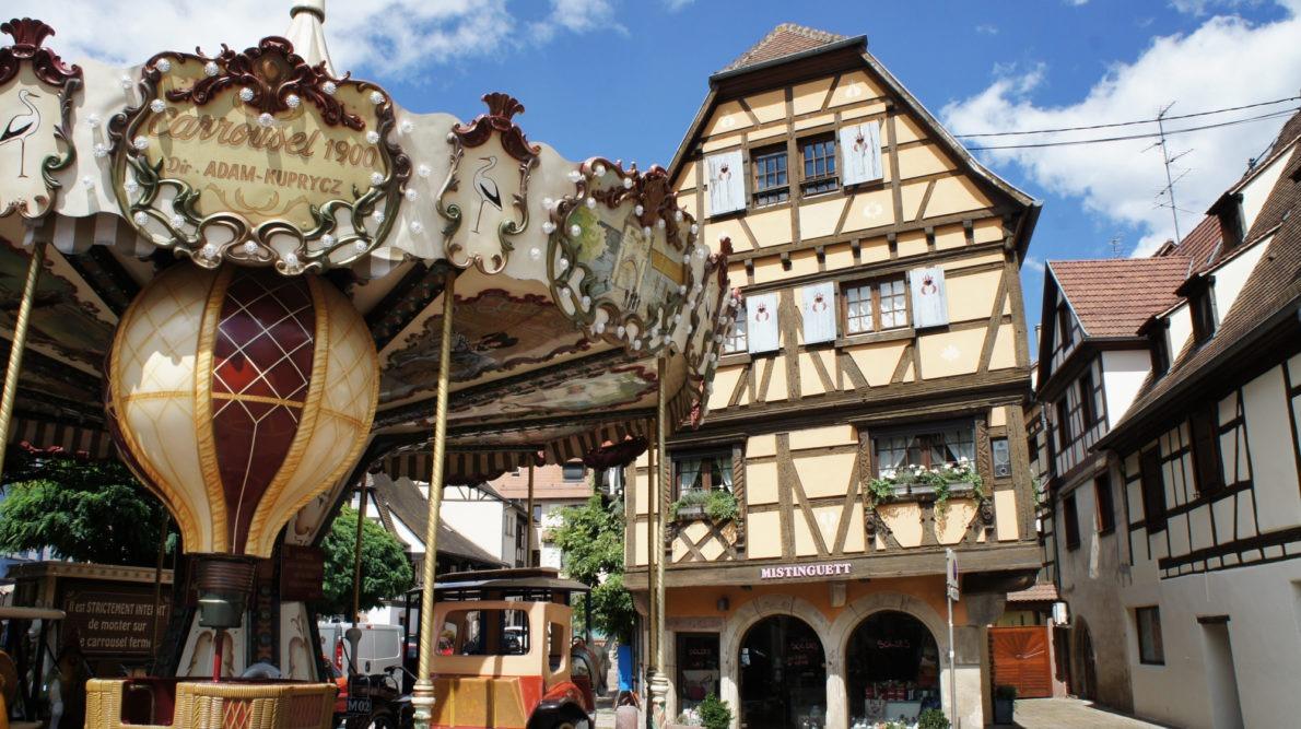 Obernai la route des vins d'Alsace