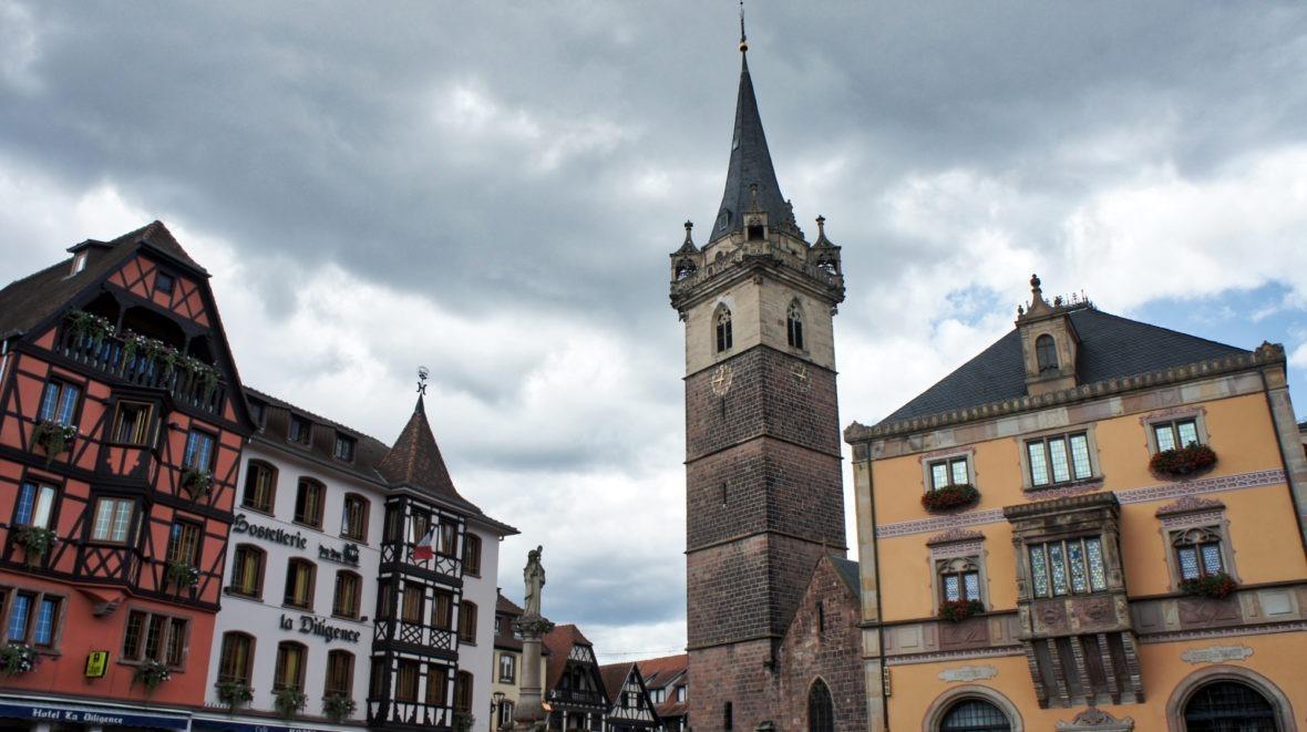 La place d'Obernai en Alsace