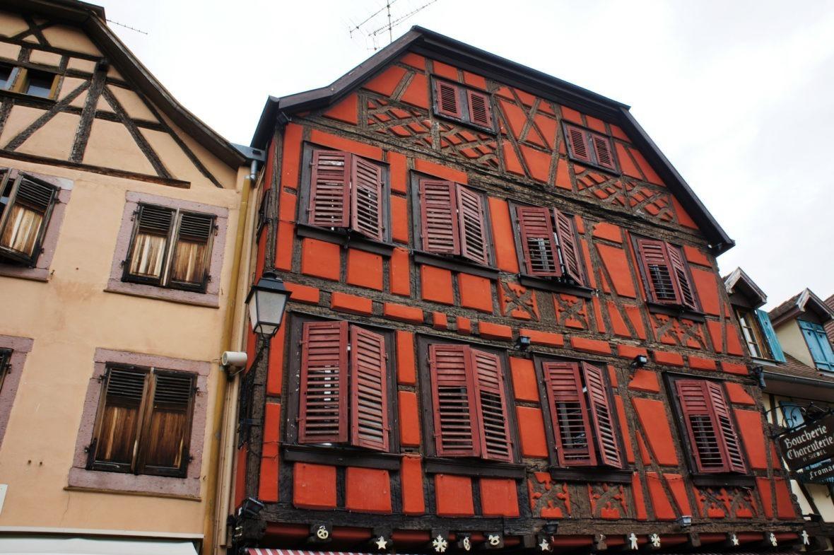Maison colorée de Ribeauvillé route des vins d'Alsace