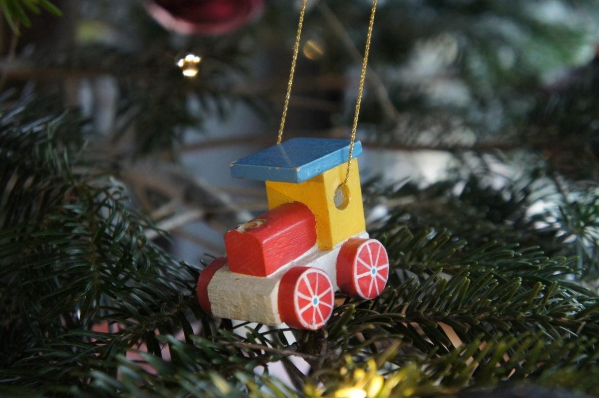 Train en bois déco du sapin de Noël