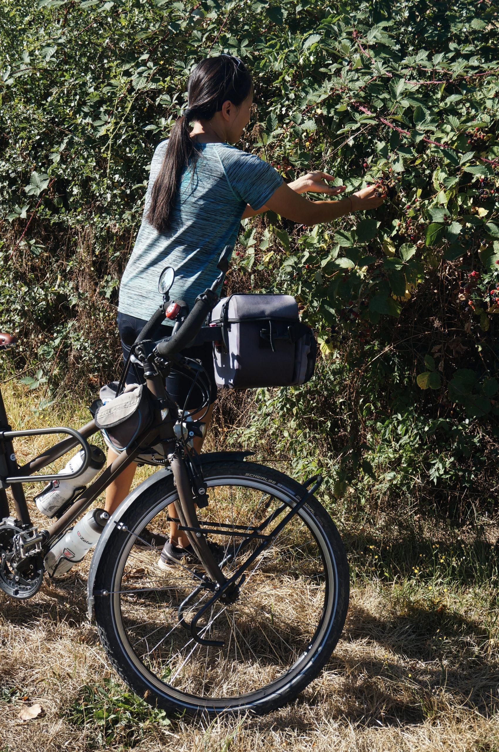 Vers la butte de Thil Bourgogne à vélo