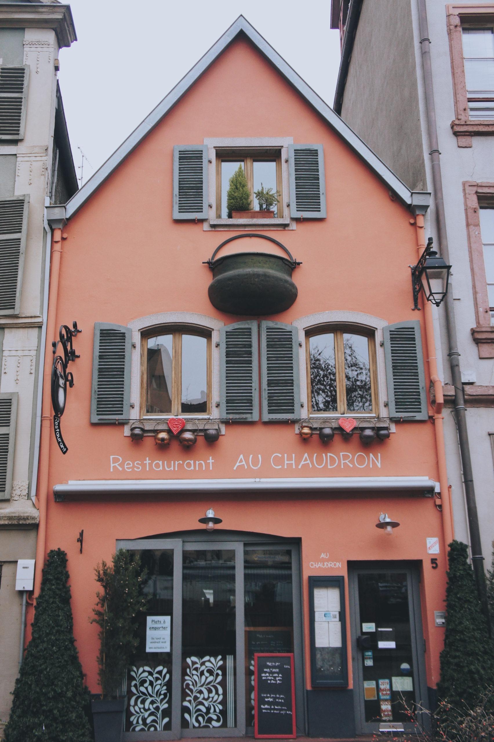 Restaurant Au chaudron à Colmar