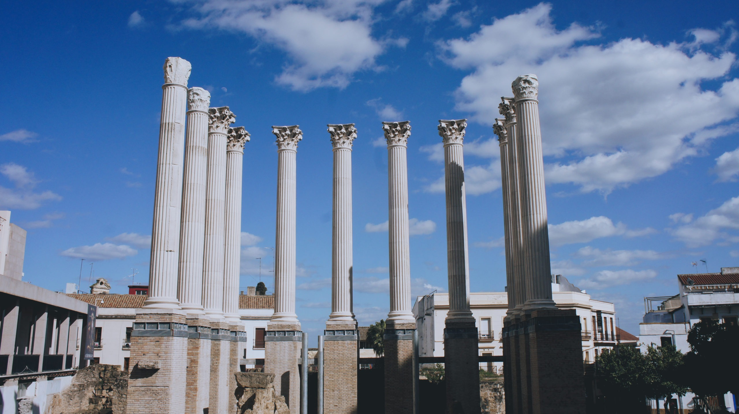 Temple romain à Cordoue en Andalousie