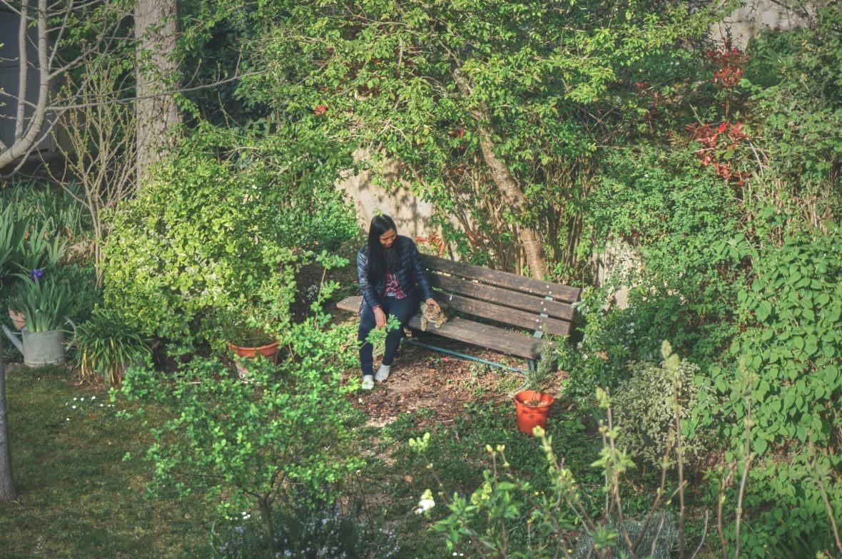 Jardin du clos Sainte Claire à Lectoure dans le Gers